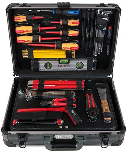 "KS Tools 911.0628 1/4' + 1/2"" Elektriker-Werkzeugsatz, im edlen Aluminiumkoffer, 128-tlg"