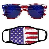 American-USA Flag-Sunglasses Mirror-Lens Sunglasses Patriotic-sunglasses - American-2020 Independence-Day Sunglasses July-4th Sunglasses eyewear protective Sunglasses