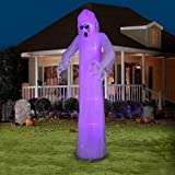 Gemmy Airblown Inflatable 12 X 4 Giant Black Light Short Circuit Ghost Halloween Decoration