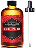 Pure Body Naturals Rosehip Seed Oil for Face, Nails, Hair or Skin, 1 oz.