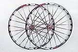 MTB Mountain Bike Bicycle 26inch Milling trilateral Alloy Rim Carbon Hub Wheels Wheelset Rims