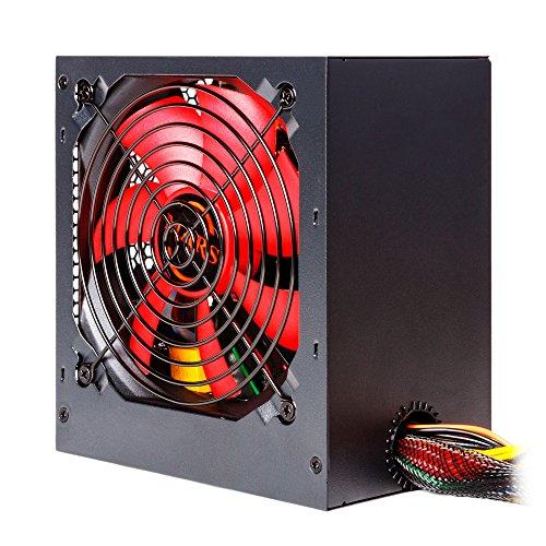 Mars Gaming MPII650, Alimentatore PC 650W, SATA, ATX12V, Ventola 12cm Nero/Rosso