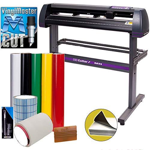 USCutter Vinyl Cutter MH 34in Bundle - Sign Making Kit w/Design & Cut...