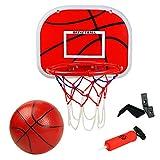 Symiu Panier de Basketball avec Basket-Ball Et Pompe Jante en Métal Hoop...