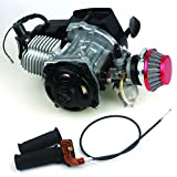 47CC 2-stroke Engine + Handle Bar+ Throttle Cable +Air Filter Motor Pocket Mini Bike Scooter ATV 7T 25H Chain 40MM Bore