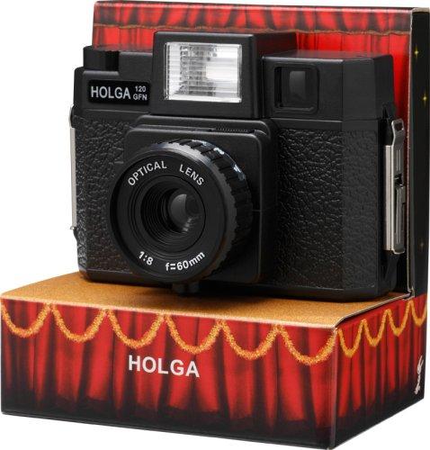 【HOLGA120GFN】 120フィルムホルガ/フラッシュ付・ガラスレンズ(PowerShovel)