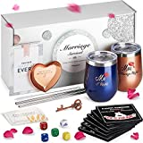 Unique Engagement Gifts for Couples, The Marriage Survival Kit | Best Bridal Shower Gifts For Bride, Wedding Gifts For The Couple, Anniversary Gifts For Her | Free Ring Dish, Coasters, Bottle Opener