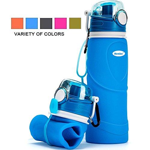 Kemier Bouteilles d'eau Pliables en Silicone de 750 ML,sans BPA,Approuvées...