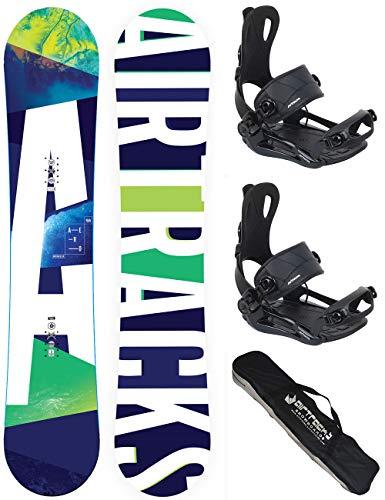 Airtracks snowboard set/Air Anarchy Carbon snowboard Wide Flat Rocker + attacchi Savage + SB sacca/152156159/cm