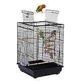Yaheetech Cage à Oiseaux avec Corde de Jouet 40 x 40 x 58 cm...