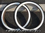 1 PAIR of Duro Brick Tread Tire White Wall 26 x 2.125, for Beach Cruiser Bikes