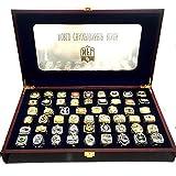 1966-2018 super bowl championship ring set with display box size 11 ship via UPS