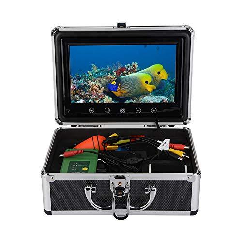 Kit fotocamera Fish Finder per pesca subacquea con monitor da 9 pollici Telecamera 1000TVL 30M cavo 4500mAh batteria ricaricabile 15 LED bianco Night Vision per pesca su ghiaccio, lago e barca(EU)