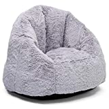 Delta Children Snuggle Foam Filled Chair, Kid Size (For Kids Up To 10 Year Old), Grey