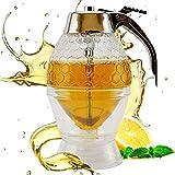 TBA Honey Dispenser Bottle Honey Jar No Dripping Jar Dispenser No Drip Acrylic (NOT GLASS) Maple Syrup Beautiful Comb Shaped Pot Jar with Stand, Great Bee Decor Dispenser, Sweet Acrylic Stand, 8-Ounce