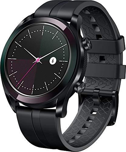 """Huawei Watch GT Elegant, Smartwatch con Caja de Metal, Pantalla Táctil AMOLED de 1.2"""", Monitor de Ritmo Cardíaco y Sueño, GPS, Sumergible 50 M, 42 mm, Blanco"""