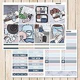 BLOUR 5 Hojas/Paquete Viajero de Negocios Etiqueta semanal Pegatina Decorativa DIY planificador Diario álbum de Recortes Pegatinas
