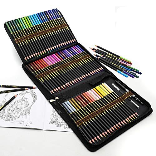 Matite Colorate Da Disegno Professionali, Set da 72 Pezzi Matite Colorate per Adulti e Bambini, Ideali per Colorare, Mandala, Disegnare, Astuccio Cancelleria Scuola