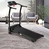 OKBOP Folding Electric Treadmills for Home, Foldable Under Desk Treadmill Machine for Small Space, Auto Incline Compact Mini Motorized Power Running Walking Machine, 300 lbs Weight Capacity (Black)