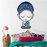 Ajcwhml Calcomanías de Pared Namaste Yoga símbolo Oriental meditación sabiduría Cualquier habitación Vinilo calcomanía Pegatina decoración del hogar murales de habitación 67x110cm