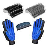 D-BUY 5 Pack Cat Groomer Brush Set, Cat Self Groomers Corner Massage Combs with Catnip, Pet Grooming Mitts Brush Gloves for Short Long Fur Cats Puppy, Pet Hair Remover Brush Lint Remover