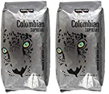 Kirkland Signature Colombian Supremo Whole Bean Coffee, 3 Pound - PACK OF 4