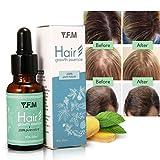 Huile Essentielle de Cheveux, Sérum de Croissance des Cheveux,Y.F.M-Formule Naturel Herbal-Aidez à la Pousse des Cheveux-Anti Chute des Cheveux-Hair Growth Essence-Contre la Perte de Cheveux
