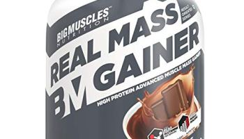 Bigmuscles Nutrition Real Mass Gainer [3Kg, Chocolate] | Lean Whey Protein Muscle Mass Gainer | Complex Carbohydrates, | 1000 Calories