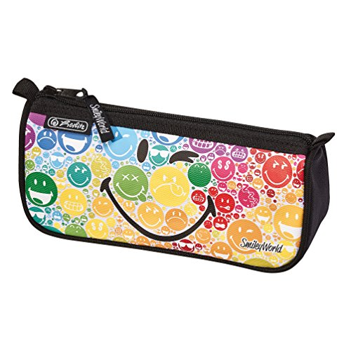 Herlitz 11438082 Smileyworld Astuccio Bustina Con Zip Fantasia Rainbow, faulenzer smileyworld...