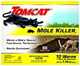 Tomcat Mole Killer(a) - Worm Bait - Includes 10 Worms per Box - Mimics a Mole's Natural Food Source - Ready-to-Use Mole Killer - Effective Against Most Common Mole Species