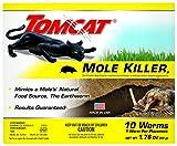 Tomcat Mole Killer(a) - Worm Bait - Includes 10 Worms per Box - Mimics a Mole's Natural Food Source - Ready-to-Use Mole Killer - Effective Against Most Common Mole Species