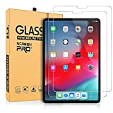 AnoKe[2 Pack] Screen Protector for iPad Pro 12.9-inch 2018 Release [Work with Face ID & Apple Pencil],[Without Home Button] Tempered Glass/High Definition & Responsivity/9 Hardness/Scratch Resistant