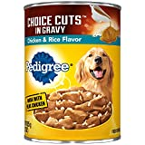 PEDIGREE CHOICE CUTS in Gravy With Chicken and Rice Canned Dog Food, 22 Ounces (Pack of 12)