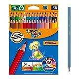 BIC Kids Evolution ECOlutions Crayons de Couleur - Coloris Assortis,...