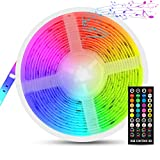 LED Ruban Musical, Fansteck Bande LED 5M 5050 RGB IP65 Lumière Multicolore...