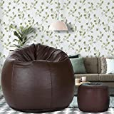 Dr Smith Bean Bag with Footstool with Beans Filled, Size - XXL Colour- Brown