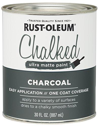 Rust-Oleum 285144 Ultra Matte İç Cephe Tebeşir Boyası 30 oz, Kömür