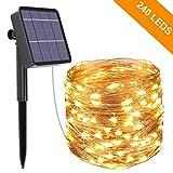Guirlande Lumineuse Solaire, Kolpop 26M 240 LED Exterieur Étanche Lampe Solaire pour...
