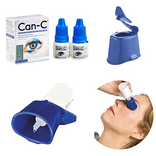 Can-C Eye Drops 2 x 5ml Vials with Eye Drop Guide Bundle