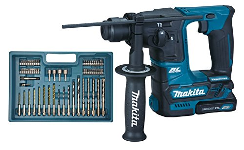 Makita Akku-Bohrhammer (inklusiv Bohrer-/Bit-Sortiment, 2x Akku/Ladegerät im Transportkoffer, 340 W, 10.8 V) HR166DSAE1