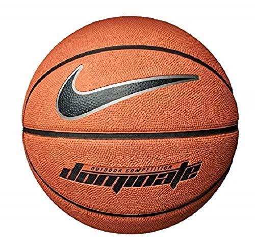 Nike Dominate 8p, Pallone da Basket, Unisex, N.Ki.00.847.07, Amber/Black/Mtlc Platinum/Black, 7