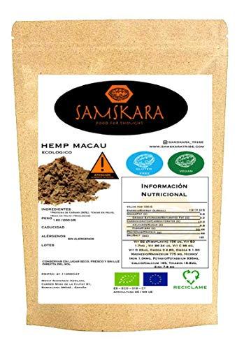 Hemp Macau (Cañamo + Maca + Cacao) Ecológico | BIO | Organic - Mezcla Proteina Vegana Energetica Nutritiva - Sin Azucares/Educolorantes (500gr)