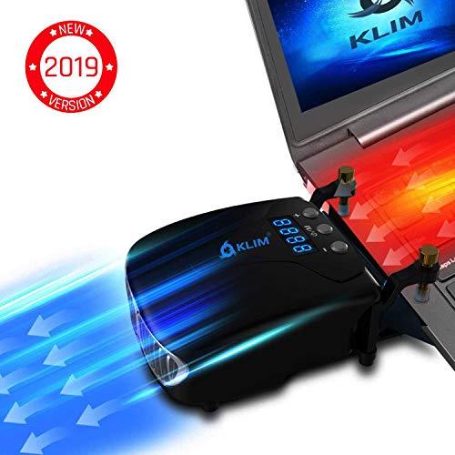KLIM Tornado V2 - Neue 2019 Version - Laptop Kühler - INNOVATIV - Schnelle Kühlung - klein + Geringes Gewicht + Leistungsstark + Wirksam Gegen die Überhitzung - USB Warmluft-Abzug