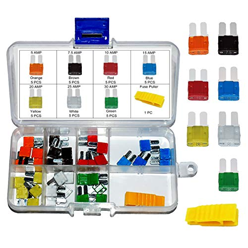 35 PCS Micro2 ATR Car Blade Fuses - MuHize Micro 2 Automotive Fuses Assorted (5, 7.5, 10, 15, 20, 25 & 30 AMP) with Puller Tool, Car Boat Truck SUV RV Micro Ⅱ Fuses Replacement
