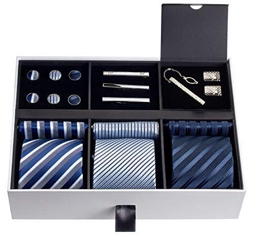 Premium Men's Gift Tie Set Luxury...