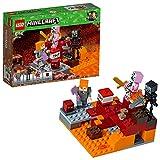 Construisez un décor Minecraft Nether avec des flammes et des champignons, ainsi qu'une brique TNT Inclut deux figurines LEGO Minecraft: Alex et un cochon zombie, plus les figurines du squelette et le petit cube de magma Les ensembles LEGO Minecraft ...