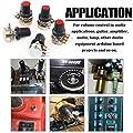 RUNCCI-YUN  10Pcs Lineare Cono Rotativo Potenziometro, B-Tipo Rotante Potenziometro con Pomello Berretto, per Arduino (B1K B2K B5K B10K B20K B50K B100K)+Kit potenziometro trimmer multigiro #5