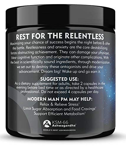 Modern Man PM Fat Burner - Sleep Aid, Weight Loss & Testosterone Booster for Men, Best Night Time Metabolism Booster & Caffeine Free Sleep Supplement | Burn Belly Fat & Build Lean Muscle, 60 Pills 3