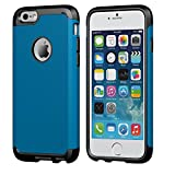 LUVVITT iPhone 6s Plus Case, [Ultra Armor] Shock Absorbing Case Best Heavy Duty Dual Layer Tough Cover for Apple iPhone 6/6s Plus Black/Metallic Blue