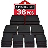 "Non Slip Pads X-PROTECTOR Great Pack (36-Pack) 16 pcs 2"" + 12 pcs 3"" + 8 pcs 4"" Furniture Pads! Best Furniture Grippers – Rubber Feet - Floor Protectors – Non Skid Pads for Keep in Place Furniture"